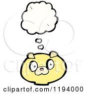 Cartoon Of A Bear Thinking Royalty Free Vector Illustration