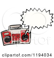Cartoon Of A Boom Box Playing Royalty Free Vector Illustration by lineartestpilot