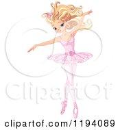 Beautiful Blond Ballerina Dancing Gracefully