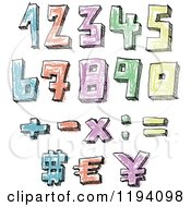 Colorful Colored Sketched Numbers