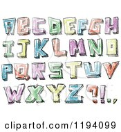 Colorful Colored Sketched Capital Letters
