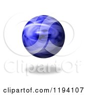 Clipart Of A Fiery Blue Globe And Shadow On White Royalty Free CGI Illustration