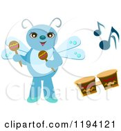 Musical Bug With Maracas And Drums