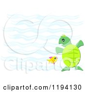 Fish And Sea Turtle In Blue Water
