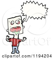Cartoon Of A Carzy Man Speaking Royalty Free Vector Illustration by lineartestpilot