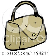 Cartoon Of A Ladies Purse Royalty Free Vector Illustration by lineartestpilot