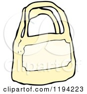 Cartoon Of A Bag Royalty Free Vector Illustration by lineartestpilot