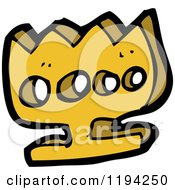 Cartoon Of A Gold Decoration Royalty Free Vector Illustration