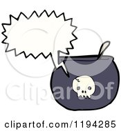 Poster, Art Print Of Caldron With A Skull Speaking