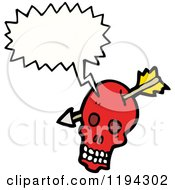 Poster, Art Print Of Skull With An Arrow Speaking