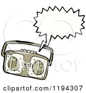 Cartoon Of A Boom Box Speaking Royalty Free Vector Illustration by lineartestpilot