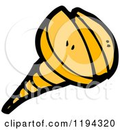 Cartoon Of A Screw Royalty Free Vector Illustration by lineartestpilot