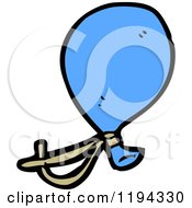 Cartoon Of A Blue Balloon Royalty Free Vector Illustration by lineartestpilot