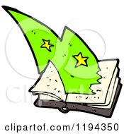 Cartoon Of A Book Of Magic Spells Royalty Free Vector Illustration by lineartestpilot