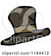 Cartoon Of A Top Hat Royalty Free Vector Illustration