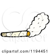 Cartoon Of A Smoking Cigarette Royalty Free Vector Illustration