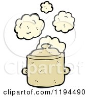 Cartoon Of A Cooking Pot Royalty Free Vector Illustration