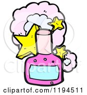 Cartoon Of A Nail Polish Bottle Royalty Free Vector Illustration
