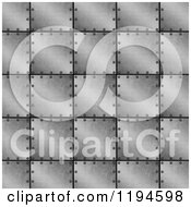 Clipart Of A 3d Industrial Metal Plate Background Royalty Free CGI Illustration