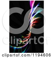 Clipart Of Spiraling Colorful Fractals On Black Royalty Free CGI Illustration