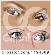 Clipart Of Womens Eyes Royalty Free Vector Illustration by dero
