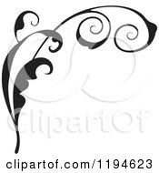 Clipart Of A Black Flourish Design Element Royalty Free Vector Illustration