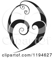 Clipart Of A Black Flourish Or Wave Design Element Royalty Free Vector Illustration by dero