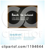 Clipart Of A Blackboard With Sample Text On A Shaded Background Royalty Free Vector Illustration