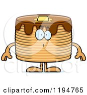 Cartoon Of A Surprised Pancakes Mascot Royalty Free Vector Clipart by Cory Thoman