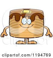 Cartoon Of A Happy Pancakes Mascot Royalty Free Vector Clipart
