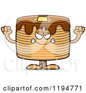 Cartoon Of A Mad Pancakes Mascot Royalty Free Vector Clipart
