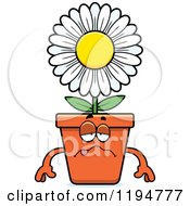 Cartoon Of A Sick Flower Pot Mascot Royalty Free Vector Clipart