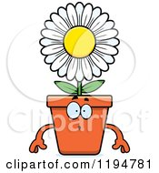 Cartoon Of A Surprised Flower Pot Mascot Royalty Free Vector Clipart
