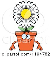 Cartoon Of A Happy Flower Pot Mascot Royalty Free Vector Clipart