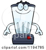 Cartoon Of A Happy Blender Mascot Royalty Free Vector Clipart