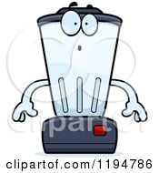 Cartoon Of A Surprised Blender Mascot Royalty Free Vector Clipart