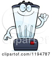 Cartoon Of A Waving Blender Mascot Royalty Free Vector Clipart
