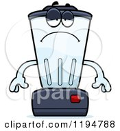 Cartoon Of A Depressed Blender Mascot Royalty Free Vector Clipart