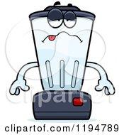 Cartoon Of A Sick Blender Mascot Royalty Free Vector Clipart