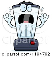 Cartoon Of A Scared Blender Mascot Royalty Free Vector Clipart
