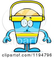 Cartoon Of A Surprised Beach Pail Mascot Royalty Free Vector Clipart