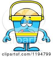 Cartoon Of A Sick Beach Pail Mascot Royalty Free Vector Clipart