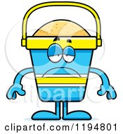 Cartoon Of A Depressed Beach Pail Mascot Royalty Free Vector Clipart