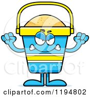 Cartoon Of A Mad Beach Pail Mascot Royalty Free Vector Clipart