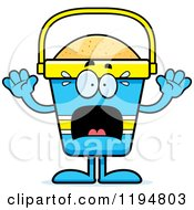 Cartoon Of A Scared Beach Pail Mascot Royalty Free Vector Clipart