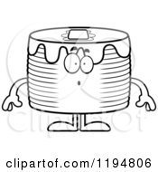 Cartoon Of A Black And White Surprised Pancakes Mascot Royalty Free Vector Clipart by Cory Thoman