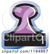 Clipart Of A Rubber Stamp Office Icon Royalty Free Vector Illustration by Lal Perera