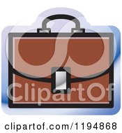 Clipart Of A Briefcase Office Icon Royalty Free Vector Illustration by Lal Perera