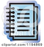 Clipart Of A Paper Document Office Icon Royalty Free Vector Illustration by Lal Perera
