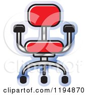 Clipart Of A Chair Office Icon Royalty Free Vector Illustration by Lal Perera